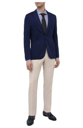 Мужская хлопковая сорочка LUCIANO BARBERA темно-синего цвета, арт. 105419/72052 | Фото 2