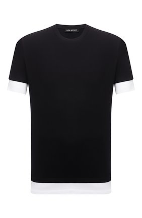 Мужская хлопковая футболка NEIL BARRETT черного цвета, арт. PBJT907/Q518S | Фото 1