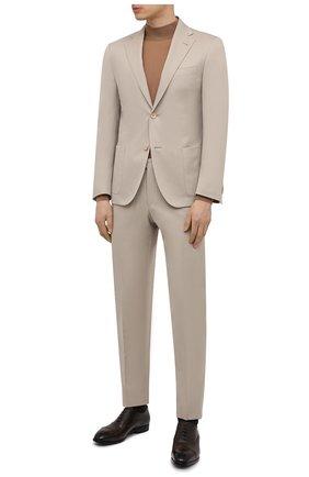 Мужские кожаные оксфорды lizzar BALLY темно-коричневого цвета, арт. LIZZAR/23 | Фото 2 (Стили: Классический; Материал внутренний: Натуральная кожа)