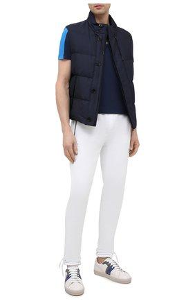 Мужские кожаные кеды ICEBERG белого цвета, арт. NIU1402A/SETA C0L0R | Фото 2