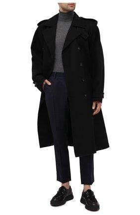 Мужские шерстяные брюки DOLCE & GABBANA синего цвета, арт. GY6IET/FQ2LP | Фото 2