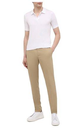 Мужские кожаные кеды CAMERLENGO белого цвета, арт. Z15740GALBI703 | Фото 2