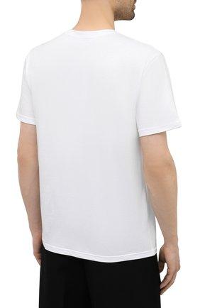 Мужская хлопковая футболка TEE LIBRARY белого цвета, арт. TSK-TS-12 | Фото 4 (Рукава: Короткие; Длина (для топов): Стандартные; Стили: Гранж; Принт: С принтом; Материал внешний: Хлопок)