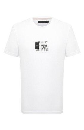 Мужская хлопковая футболка TEE LIBRARY белого цвета, арт. TSK-TS-05 | Фото 1 (Принт: С принтом; Рукава: Короткие; Материал внешний: Хлопок; Длина (для топов): Стандартные; Стили: Гранж)