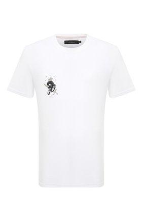 Мужская хлопковая футболка TEE LIBRARY белого цвета, арт. TSK-TS-04 | Фото 1 (Стили: Гранж; Принт: С принтом; Длина (для топов): Стандартные; Рукава: Короткие; Материал внешний: Хлопок)