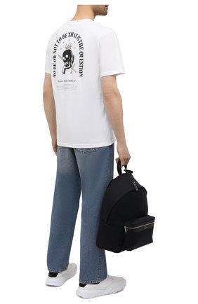 Мужская хлопковая футболка TEE LIBRARY белого цвета, арт. TSK-TS-04 | Фото 2 (Стили: Гранж; Принт: С принтом; Длина (для топов): Стандартные; Рукава: Короткие; Материал внешний: Хлопок)