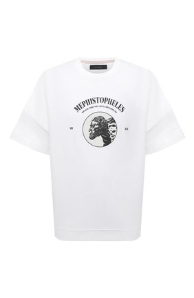 Мужская хлопковая футболка TEE LIBRARY белого цвета, арт. TSK-LS-31 | Фото 1