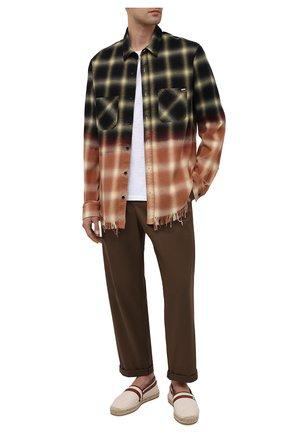 Мужские текстильные эспадрильи GUCCI бежевого цвета, арт. 645103/F6LZ0 | Фото 2