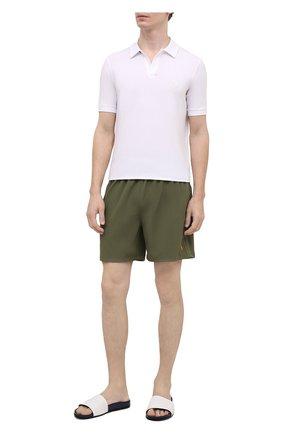 Мужские кожаные шлепанцы KNT белого цвета, арт. USSK034N00444 | Фото 2 (Материал внутренний: Натуральная кожа; Материал внешний: Кожа)