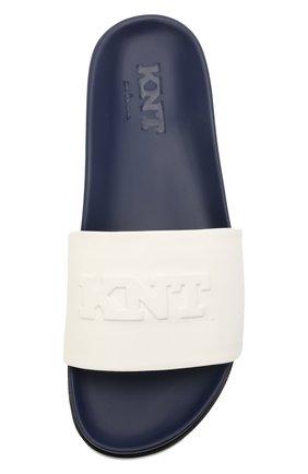 Мужские кожаные шлепанцы KNT белого цвета, арт. USSK034N00444 | Фото 5 (Материал внешний: Кожа; Материал внутренний: Натуральная кожа)