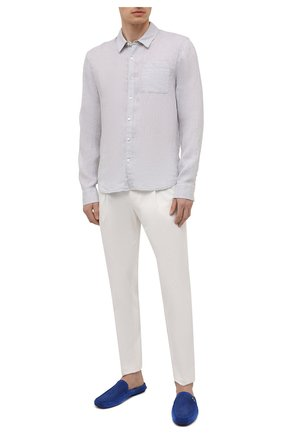 Мужская льняная рубашка JAMES PERSE светло-серого цвета, арт. MJZ3376 | Фото 2