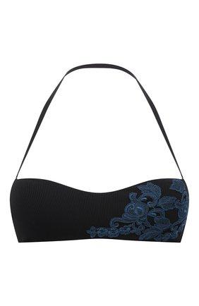 Женский бра-бандо LA PERLA черного цвета, арт. 005221C | Фото 1