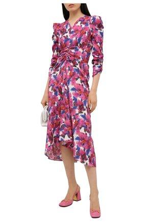 Женские кожаные туфли baby GUCCI розового цвета, арт. 643892/C9D00 | Фото 2 (Подошва: Плоская; Каблук высота: Высокий; Каблук тип: Устойчивый; Материал внутренний: Натуральная кожа)