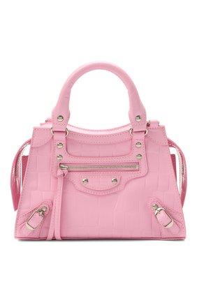 Женская сумка neo classic city mini BALENCIAGA розового цвета, арт. 638524/15V6Y | Фото 1 (Ремень/цепочка: На ремешке; Сумки-технические: Сумки через плечо, Сумки top-handle; Размер: mini; Материал: Натуральная кожа)