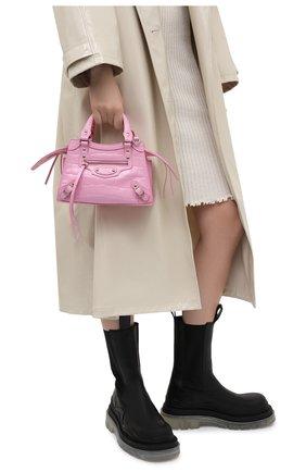 Женская сумка neo classic city mini BALENCIAGA розового цвета, арт. 638524/15V6Y | Фото 2 (Ремень/цепочка: На ремешке; Сумки-технические: Сумки через плечо, Сумки top-handle; Размер: mini; Материал: Натуральная кожа)