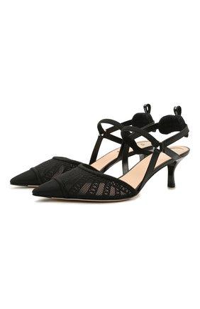 Женские текстильные туфли FENDI черного цвета, арт. 8J8105 AEH4   Фото 1