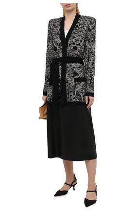 Женские текстильные туфли FENDI черного цвета, арт. 8J8105 AEH4   Фото 2