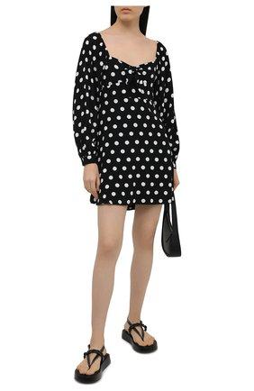 Женское платье из вискозы FAITHFULL THE BRAND черно-белого цвета, арт. FF1709-EDP | Фото 2