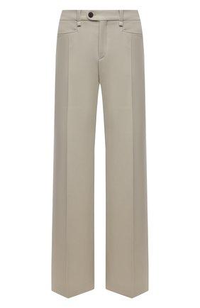 Женские шерстяные брюки CHLOÉ светло-зеленого цвета, арт. CHC21UPA17166 | Фото 1 (Материал подклада: Вискоза; Силуэт Ж (брюки и джинсы): Широкие; Материал внешний: Шерсть; Стили: Кэжуэл; Длина (брюки, джинсы): Удлиненные; Женское Кросс-КТ: Брюки-одежда)