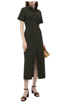 Женские кожаные босоножки dossy 55 BALLY черного цвета, арт. D0SSY 55/00 | Фото 2