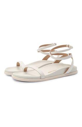 Женские кожаные сандалии ALEXANDRE VAUTHIER белого цвета, арт. A0KIFLTAF0RM | Фото 1