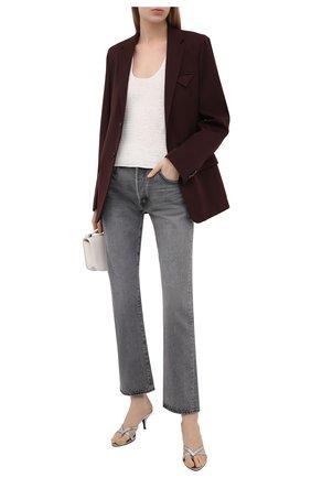 Женские кожаные мюли logo TOM FORD серебряного цвета, арт. W2883N-LCL155 | Фото 2