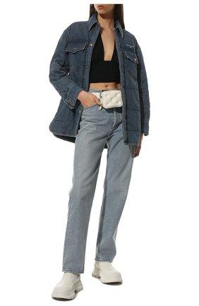 Женские кожаные ботинки tread slick ALEXANDER MCQUEEN белого цвета, арт. 635714/WHZ61 | Фото 2 (Женское Кросс-КТ: Челси-ботинки; Материал внутренний: Натуральная кожа; Подошва: Платформа; Каблук высота: Низкий)