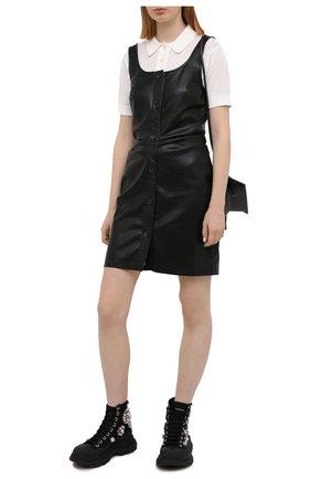 Женские текстильные ботинки tread slick ALEXANDER MCQUEEN черного цвета, арт. 652246/W4L3I   Фото 2