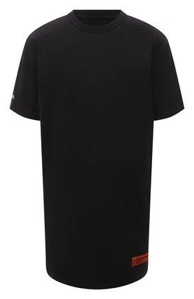 Женское хлопковое платье HERON PRESTON черного цвета, арт. HWDB044R21JER0011001 | Фото 1