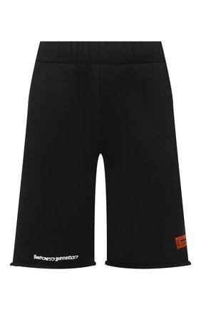 Женские хлопковые шорты HERON PRESTON черного цвета, арт. HWCI002R21JER0011001 | Фото 1