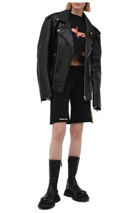 Женские хлопковые шорты HERON PRESTON черного цвета, арт. HWCI002R21JER0011001 | Фото 2