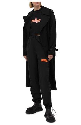 Женские джоггеры HERON PRESTON черного цвета, арт. HWCA023R21FAB0011000 | Фото 2