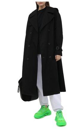 Женская хлопковая футболка HERON PRESTON черного цвета, арт. HWAA023R21JER0021001 | Фото 2