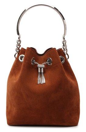Женская сумка bon bon JIMMY CHOO коричневого цвета, арт. B0N B0N BUCKET/SUE | Фото 1