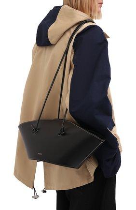 Женская сумка cannoli YUZEFI черного цвета, арт. YUZC0-HB-CA-00   Фото 2