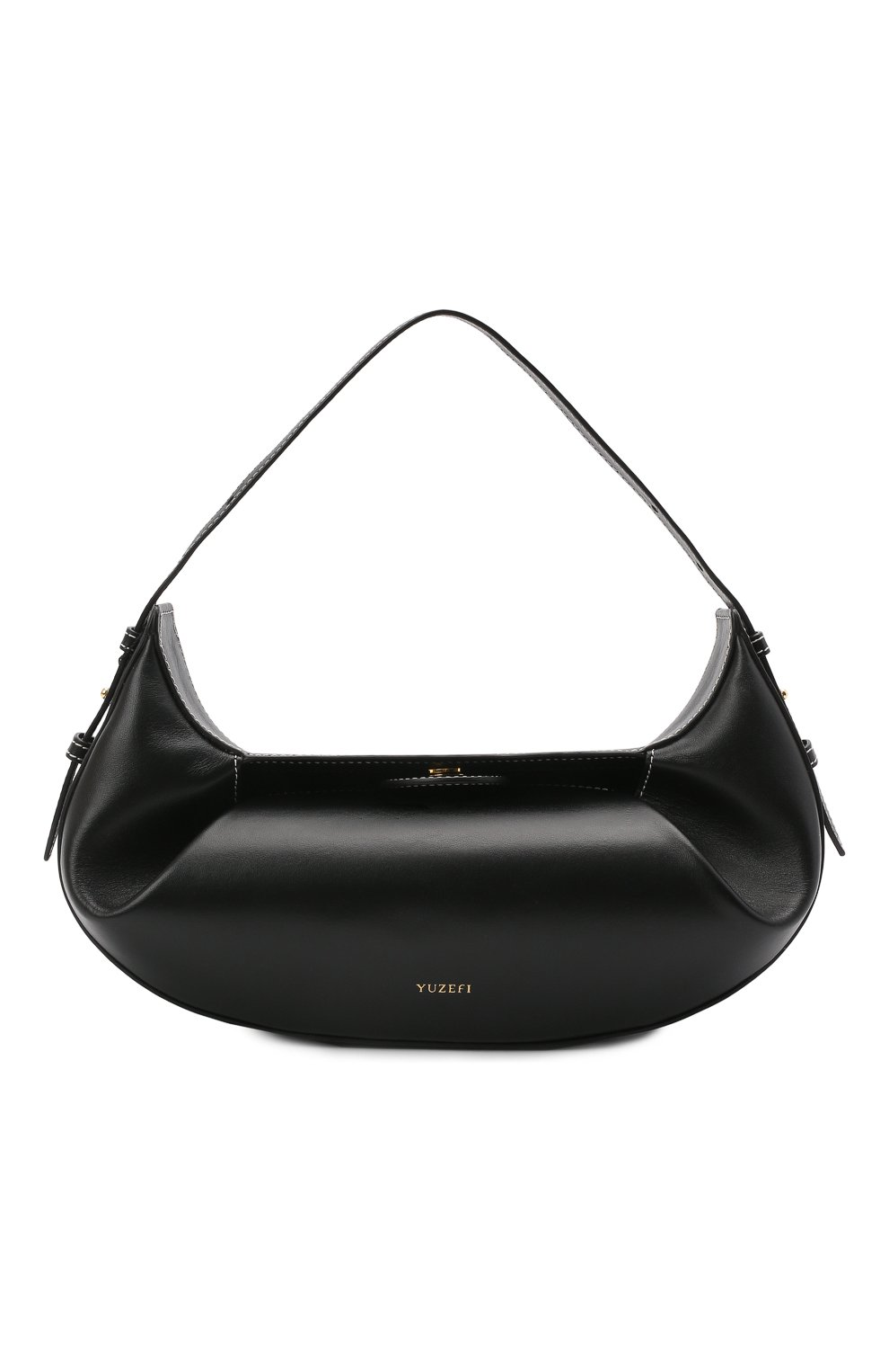 Женская сумка fortune cookie YUZEFI черного цвета, арт. YUZC0-HB-FC-00   Фото 1 (Сумки-технические: Сумки top-handle; Размер: medium; Материал: Натуральная кожа)