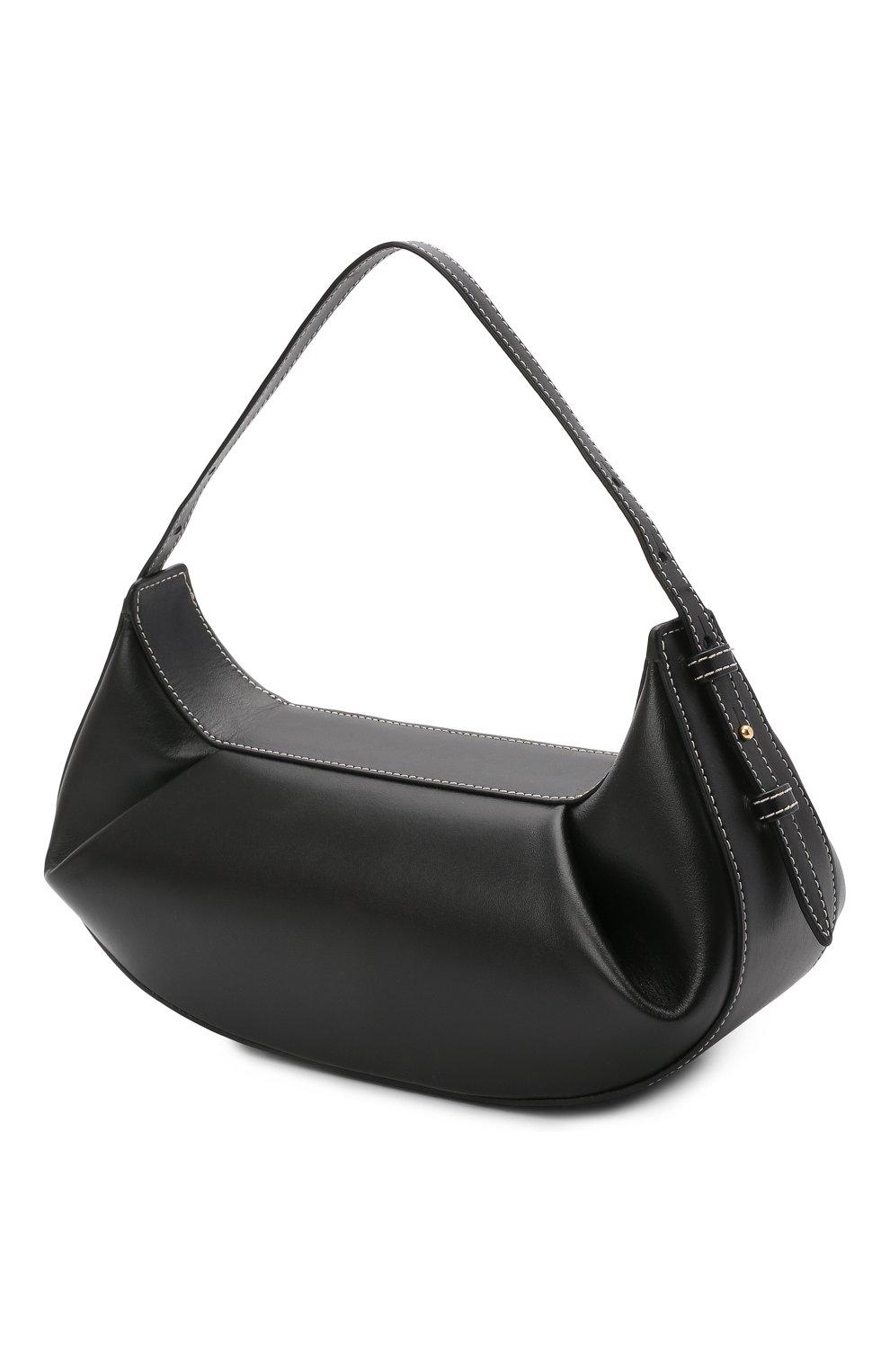 Женская сумка fortune cookie YUZEFI черного цвета, арт. YUZC0-HB-FC-00   Фото 3 (Сумки-технические: Сумки top-handle; Размер: medium; Материал: Натуральная кожа)