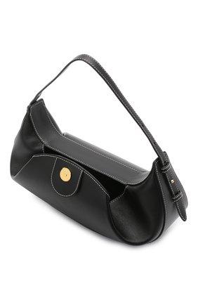 Женская сумка fortune cookie YUZEFI черного цвета, арт. YUZC0-HB-FC-00   Фото 4 (Сумки-технические: Сумки top-handle; Размер: medium; Материал: Натуральная кожа)