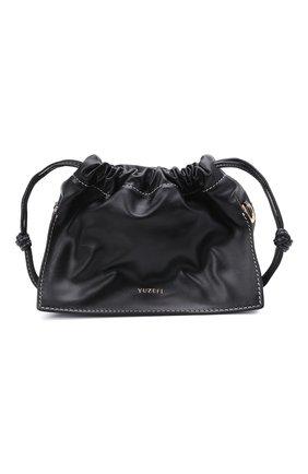 Женская сумка bom mini YUZEFI черного цвета, арт. YUZC0-HB-MB-00 | Фото 1 (Сумки-технические: Сумки через плечо; Ремень/цепочка: На ремешке; Материал: Натуральная кожа; Размер: mini)