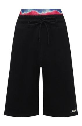 Женские хлопковые шорты MSGM черного цвета, арт. 3045MDB01 217299 | Фото 1
