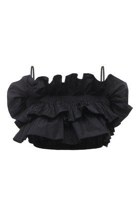 Женский топ MSGM черного цвета, арт. 3042MDT106 217305 | Фото 1