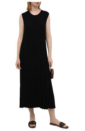 Женские кожаные шлепанцы TOD'S черного цвета, арт. XXW05G0EM10MID | Фото 2