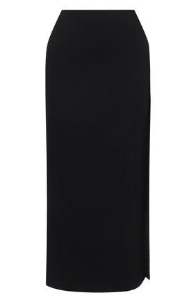 Женская юбка из вискозы JIL SANDER черного цвета, арт. JSWS754316-WSY39148 | Фото 1