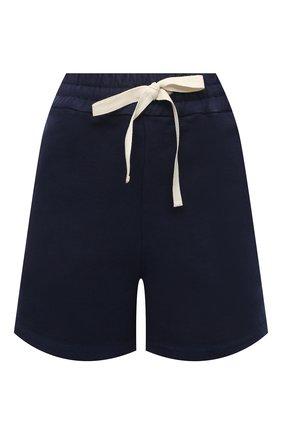 Женские хлопковые шорты JIL SANDER темно-синего цвета, арт. JPPS707521-WS248908A | Фото 1 (Женское Кросс-КТ: Шорты-одежда; Материал внешний: Хлопок; Стили: Спорт-шик; Длина Ж (юбки, платья, шорты): Мини)