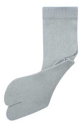 Женские хлопковые носки MAISON MARGIELA светло-голубого цвета, арт. S51TL0042/S17264 | Фото 1
