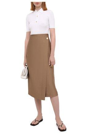 Женская юбка VINCE коричневого цвета, арт. V738130680 | Фото 2
