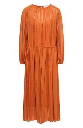 Женское платье из вискозы ZIMMERMANN оранжевого цвета, арт. 1273DB0T   Фото 1