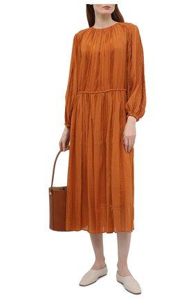 Женское платье из вискозы ZIMMERMANN оранжевого цвета, арт. 1273DB0T   Фото 2