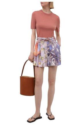 Женский кашемировый пуловер ZIMMERMANN розового цвета, арт. 9519TRB0T   Фото 2