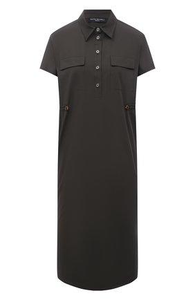 Женское хлопковое платье PIETRO BRUNELLI хаки цвета, арт. AG0419/C0P319 | Фото 1